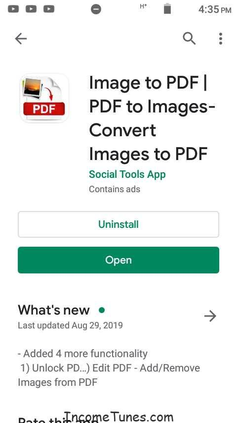 Android মোবাইল দিয়ে যেকোন Image কে  PDF ফাইল করুন। Image to PDF Convert.