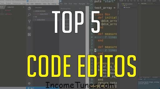5 popular programming editors.